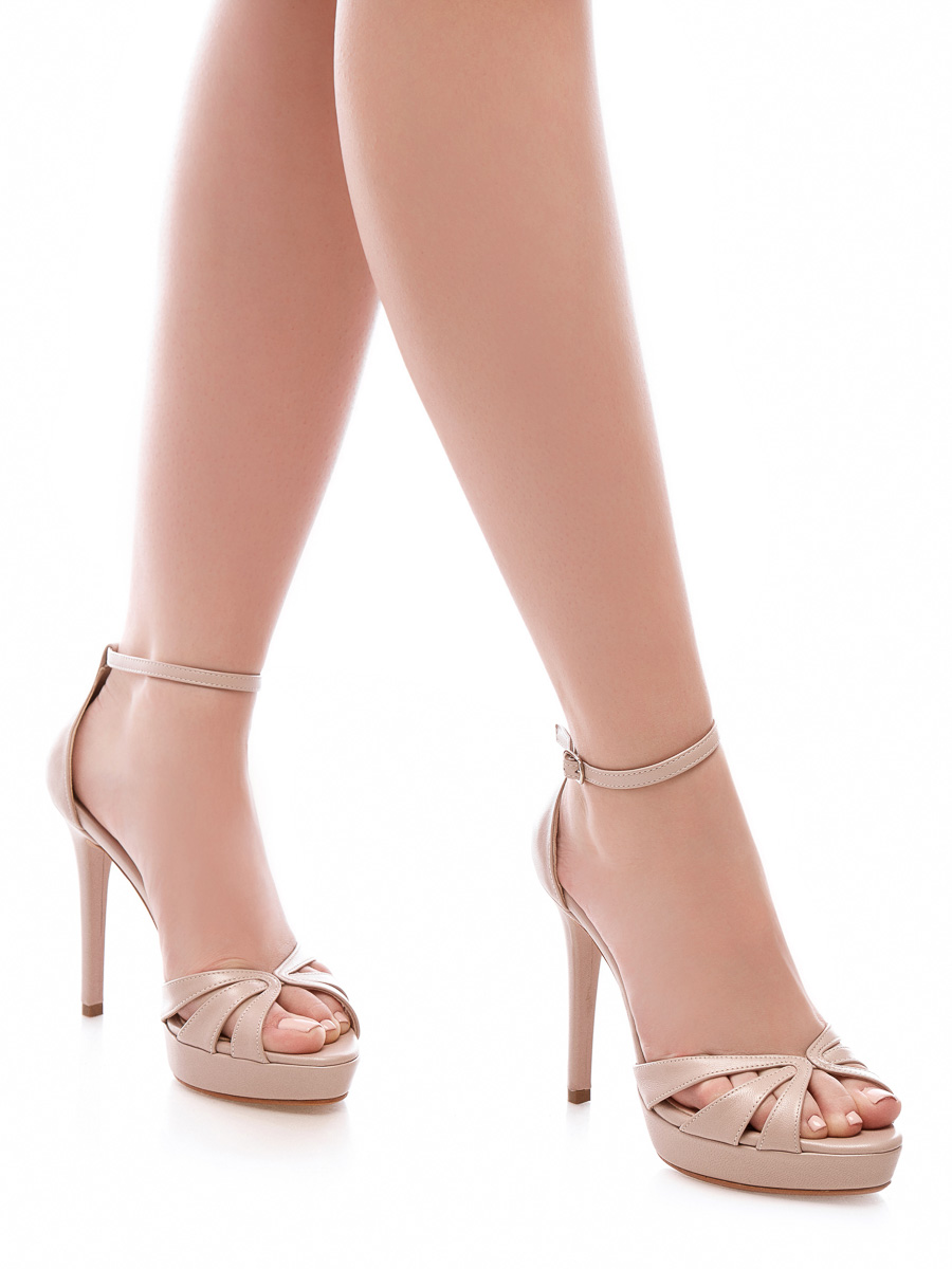 Sandale Irina Dama Comanda Online Nunta Pantofi Mireasa Piele