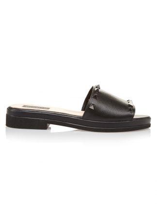 Sandale la comanda lucrate manual din piele naturala disponibili pe orice culoare Sanda Vara Neagra GEMELLI 2018 Piele SANDALE Joase Online