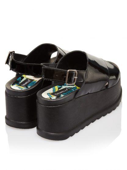 Pantofi la comanda orice culoare Configureaza-ti noua pereche Wedges Negri Piele Naturala Colectia Gemelli Shoes Incaltaminte Vara Constanta
