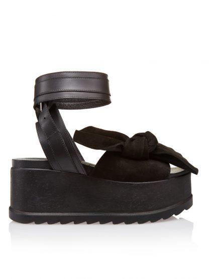Pantofi la comanda orice culoare Configureaza-ti noua pereche Wedges Negri Piele Naturala Intoarsa Colectia Gemelli Shoes Vara 2018 Constanta