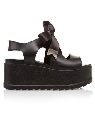 Pantofi la comanda orice culoare Configureaza-ti noua pereche Wedges Negri Piele Naturala Catarame Colectia Gemelli Shoes Vara 2018 Constanta