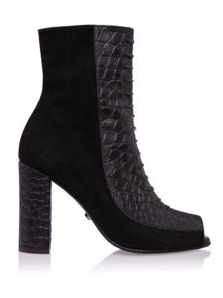 Gheata Daisy Neagra Piele Fashion GEMELLI Shoes Comanda Online Constanta Romania Pantofi la comanda lucrati manual din piele naturala Descopera colectia ghete casual