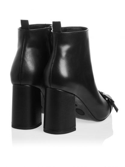 Gheata Marie Piele Naturala Neagra GEMELLI SHOES Comanda Online Toamna casual Constanta Romania Pantofi la comanda lucrati manual din piele naturala