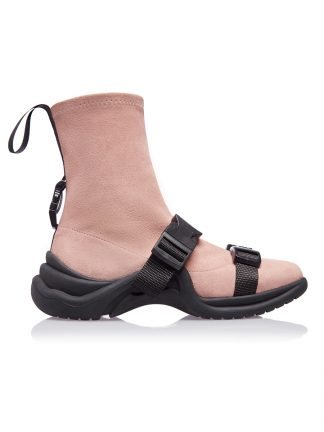 Gheata Bej Rose Piele Intoarsa GEMELLI SHOES Primavara Vara 2019 Constanta Romania Pantofi la comanda lucrati manual din piele naturala