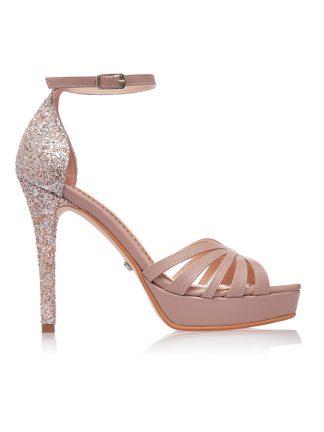 Sandale Ocazie Glitter Elegante Toc Piele Naturala GEMELLI Shoes | Comanda Pantofi la comanda lucrati manual din piele naturala de calitate.
