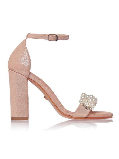 Sandale Auriu Roze Perle Piele Naturala GEMELLI Shoes Romania Comanda Online Pantofi la comanda lucrati manual din piele naturala orice masura