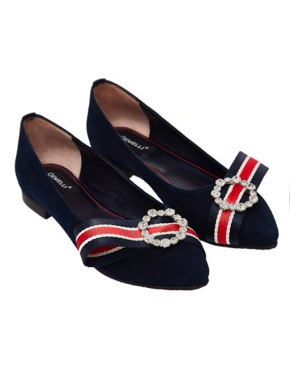 Cauti Balerini de Dama din Piele Naturala Colectia Primavara Vara? Comanda Balerini Dama Bleumarin Piele Naturala Gemelli Shoes Comanda Online