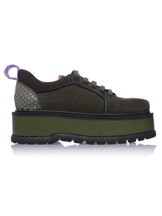 Convers Kaki Piele Naturala Dama GEMELLI Shoes Romania Online Constanta Romania Pantofi la comanda lucrati manual din Piele Naturala disponibili pe orice masura