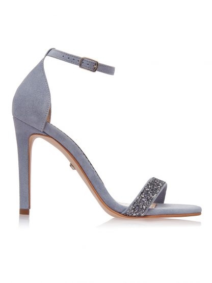 Sandale Bleu Elegante Ocazie Glitter Piele Naturala GEMELLI Shoes | Pantofi la comanda lucrati manual din piele naturala de calitate.