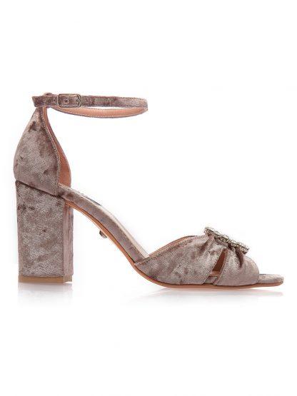 Sandale Elegante Ocazie Catifea Toc Comanda Online GEMELLI Shoes | Pantofi la comanda lucrati manual din piele naturala de calitate.