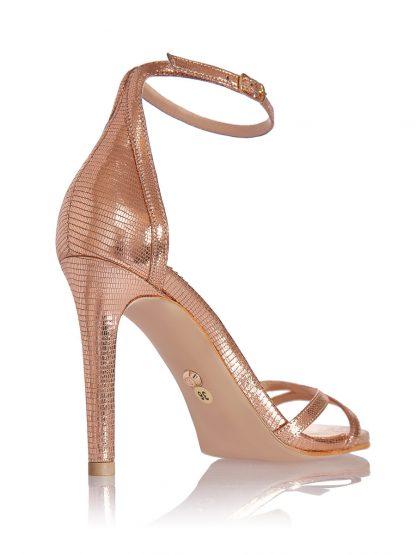 Sandale Elegante Ocazie Aurii Piele Naturala Comanda GEMELLI Shoes | Pantofi la comanda lucrati manual din piele naturala de calitate.