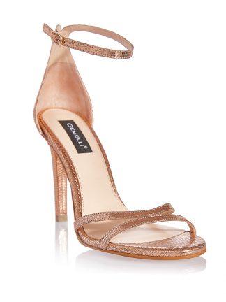 Sandale Elegante Auriu Rose Ocazie Piele Naturala GEMELLI Shoes | Pantofi la comanda lucrati manual din piele naturala de calitate.