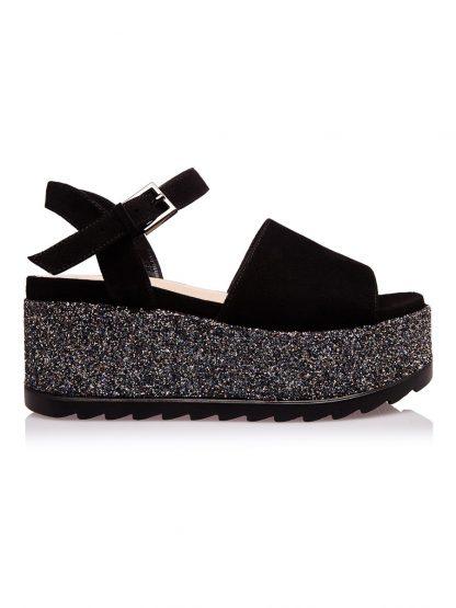 Sandale de Vara Moderne Fashion Comode disponibile pe Orice Culoare Sanda Casual Fashion Neagra Glitter Vara GEMELLI SANDALE Piele 2019