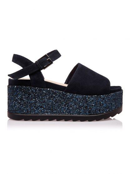 Sandale de Vara Moderne Fashion Comode disponibile pe Orice Culoare Sanda Casual Fashion Glitter Bleumarin Vara GEMELLI SANDALE Piele 2019