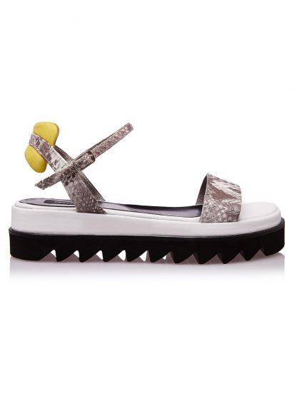 Sandale Moderne din piele Naturala disponibile pe Orice Culoare Sanda Vara Snake Piele Naturala GEMELLI SANDALE Casual Online 2019