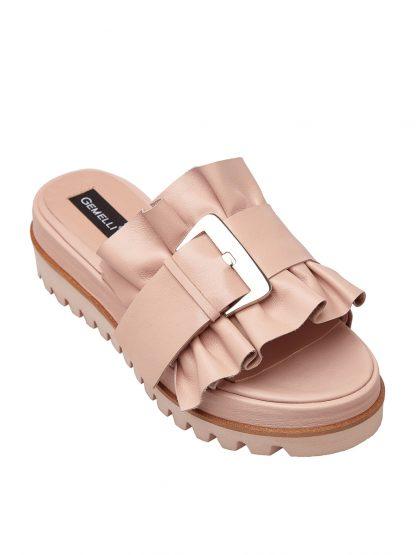 Sandale la comanda lucrate manual din piele naturala disponibili pe orice culoare Sanda Joasa Nude Vara Piele Naturala GEMELLI SANDALE Fashion