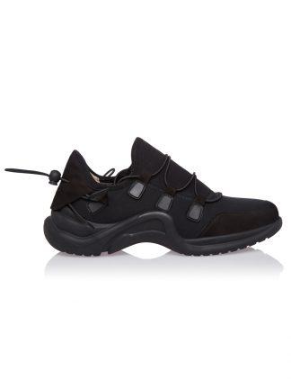 Convers Convers Negru Piele Intoarsa Neopren GEMELLI Dama Comanda Online Shoes Constanta Romania Pantofi la comanda lucrati manual din Piele Naturala