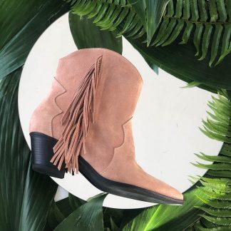 Ciocata Casual Nude Piele Intoarsa Franjuri GEMELLI Shoes Romania dama Constanta Romania Pantofi la comanda lucrati manual din piele naturala