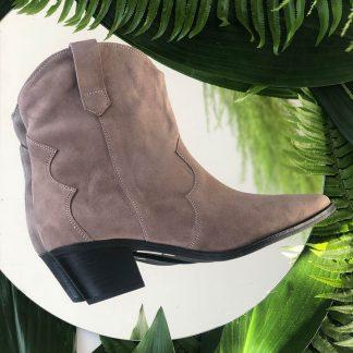 Ciocate Casual Grej Piele Intoarsa Western GEMELLI Shoes Romania dama Constanta Romania Pantofi la comanda lucrati manual din piele naturala