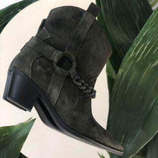 Ciocate Casual Kaki Piele Intoarsa Western GEMELLI Shoes Romania dama Constanta Romania Pantofi la comanda lucrati manual din piele naturala