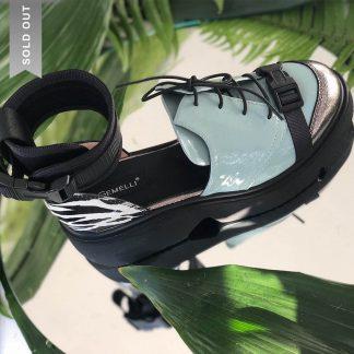 Demioxford Piele Naturala Bleu Print Zebra GEMELLI Shoes Romania Comanda Online dintr-o gama variata de modele Configureaza-ti noua pereche