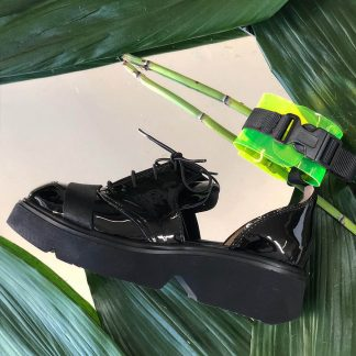 Demioxford Piele Naturala Neagra Bareta Verde GEMELLI Shoes Online Comanda Online dintr-o gama variata de modele Configureaza-ti noua pereche