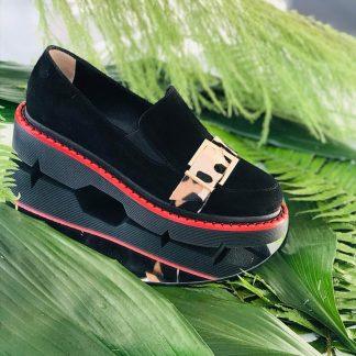 Mocasin Negru Piele Intoarsa Naturala Ponei GEMELLI Shoes Romania Comanda Online dintr-o gama variata de modele Configureaza-ti noua pereche