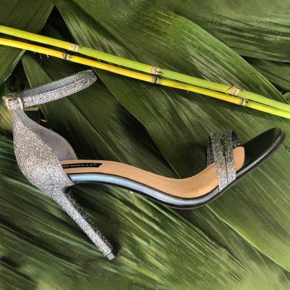 Sandale Argintii Piele de Ocazie Glitter Elegante GEMELLI Shoes Online Pantofi la comanda lucrati manual din piele naturala orice masura