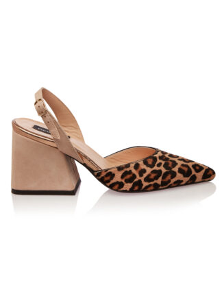 Sandale Piele Naturala Intoarsa Nude Leopard GEMELLI Shoes Constanta | Pantofi la comanda lucrati manual din piele naturala de calitate.