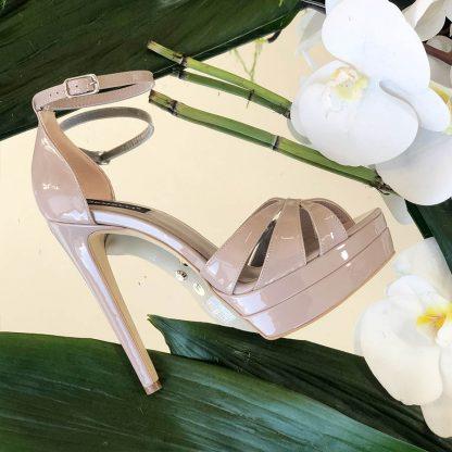 Sandale Piele Roz Pudra de Ocazie cu Platforma GEMELLI Comanda Online Pantofi la comanda lucrati manual din piele naturala orice masura