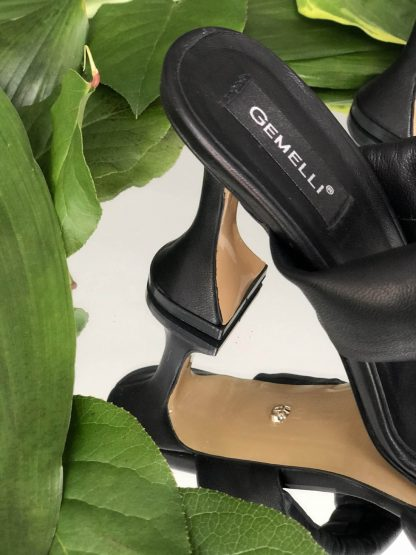 Sandale Negre Piele Naturala de Vara Elegante GEMELLI Shoes Online Pantofi la comanda lucrati manual din piele naturala orice masura
