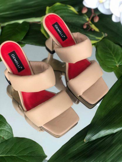 Sandale Nude Piele Naturala de Vara Elegante GEMELLI Shoes Online Pantofi la comanda lucrati manual din piele naturala orice masura