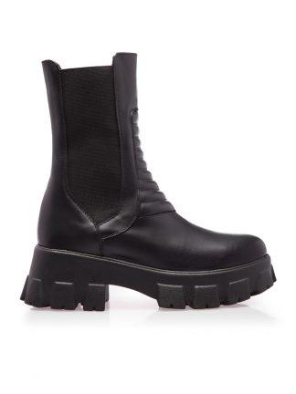 Bocanci Negri Fashion Piele Naturala Elastic Comanda GEMELLI Shoes Online Toamna sport casual lucrati manual disponibili pe orice culoare
