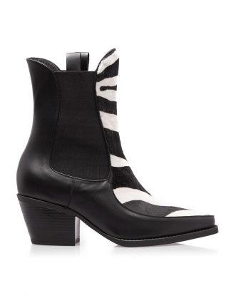 Ciocate Negre Piele Ponei Imprimeu Zebra GEMELLI SHOES Constanta Romania Pantofi la comanda lucrati manual cu maiestrie din piele naturala