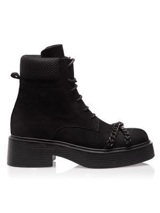 Ghete Negre Fashion Piele Intoarsa Naturala GEMELLI SHOES Constanta Romania Pantofi la comanda lucrati manual cu maiestrie din piele naturala