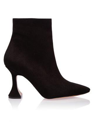 Ghete Casual Negre Piele Intoarsa Toc Clepsidra GEMELLI SHOES Romania Pantofi la comanda lucrati manual cu maiestrie din piele naturala