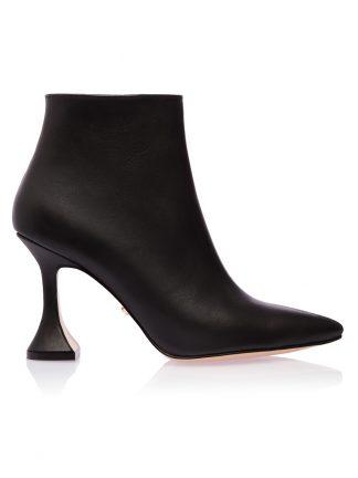 Ghete Casual Negre Piele Naturala Toc Clepsidra GEMELLI SHOES Romania Pantofi la comanda lucrati manual cu maiestrie din piele naturala