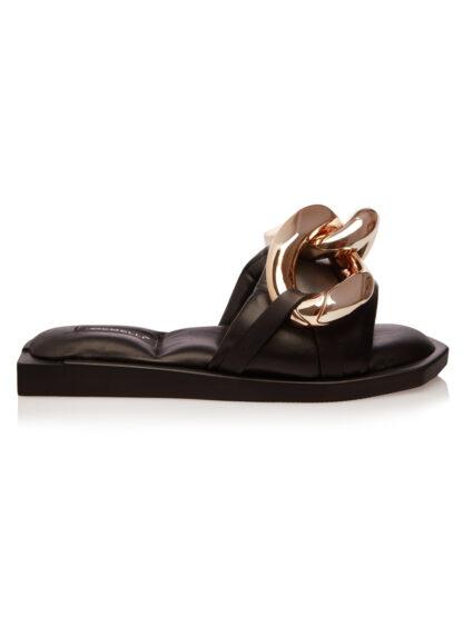 Sandale Joase Negre Accesoriu Auriu Primavara Vara GEMELLI Comanda Online sport casual lucrati manual disponibili pe orice culoare